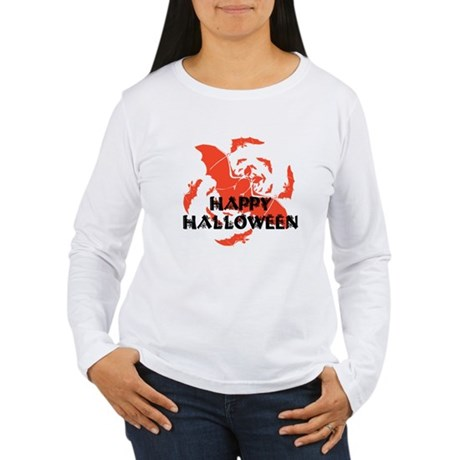 Happy Halloween Bats Women's Long Sleeve T-Shirt