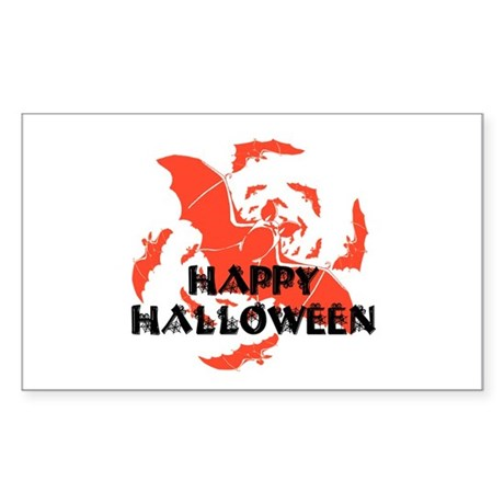Happy Halloween Bats Rectangle Sticker