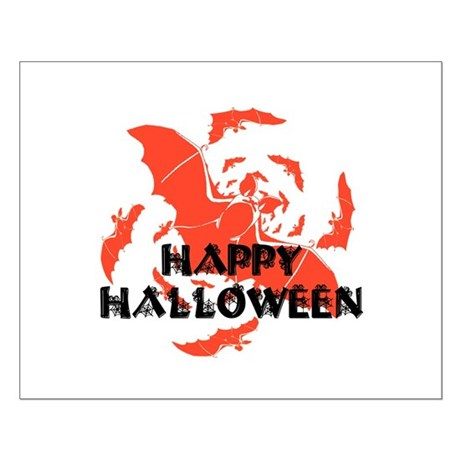 Happy Halloween Bats Small Poster