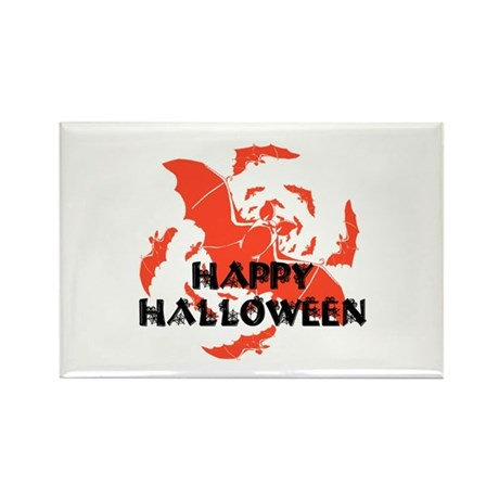 Happy Halloween Bats Rectangle Magnet (100 pack)