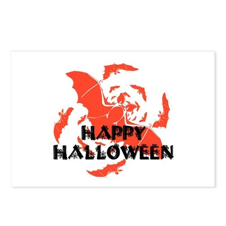 Happy Halloween Bats Postcards (Package of 8)