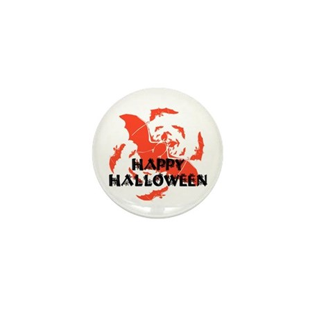 Happy Halloween Bats Mini Button (100 pack)