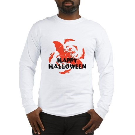 Happy Halloween Bats Long Sleeve T-Shirt
