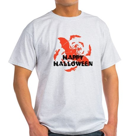 Happy Halloween Bats Light T-Shirt