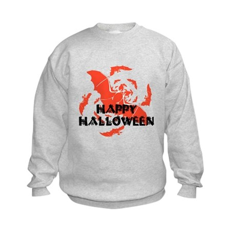 Happy Halloween Bats Kids Sweatshirt