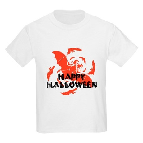 Happy Halloween Bats Kids Light T-Shirt