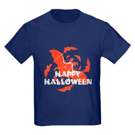 Happy Halloween Bats Kids Dark T-Shirt