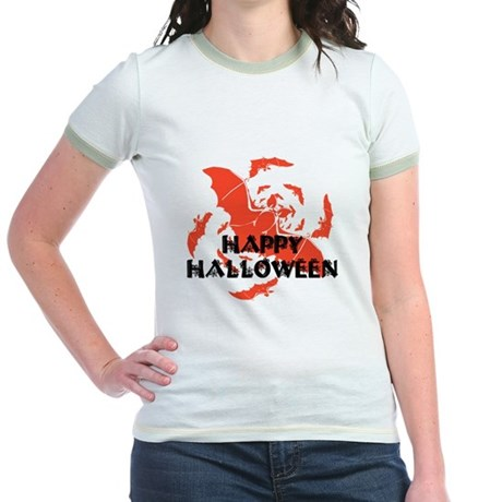 Happy Halloween Bats Jr. Ringer T-Shirt