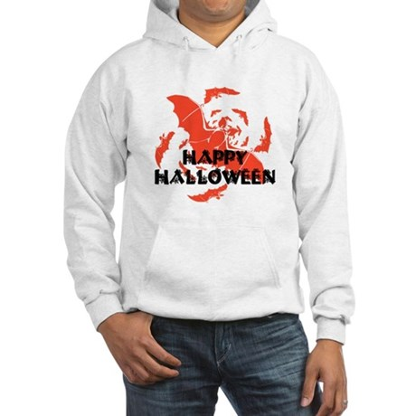 Happy Halloween Bats Hooded Sweatshirt