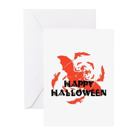 Happy Halloween Bats Greeting Cards (Pk of 10)