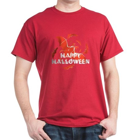 Happy Halloween Bats Dark T-Shirt