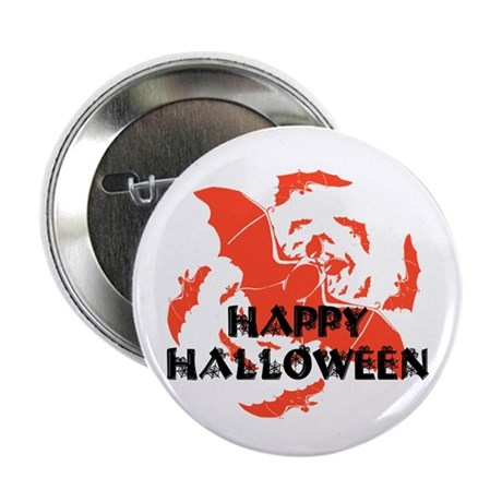 "Happy Halloween Bats 2.25"" Button (100 pack)"
