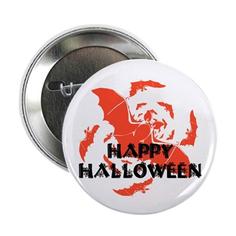 Happy Halloween Bats Button