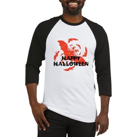 Happy Halloween Bats Baseball Jersey