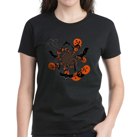 Pumpkin Bats Women's Dark T-Shirt