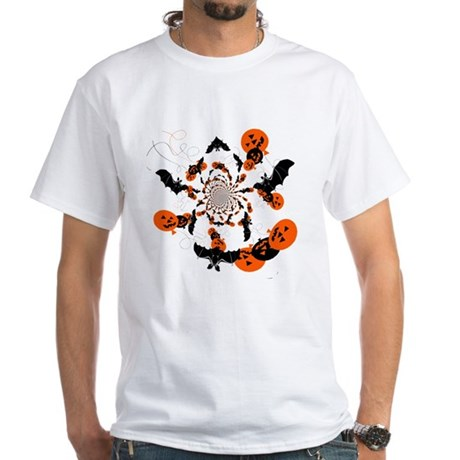 Pumpkin Bats White T-Shirt