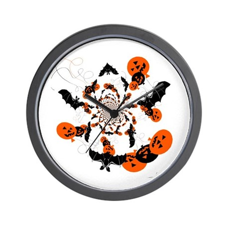 Pumpkin Bats Wall Clock