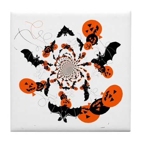 Pumpkin Bats Tile Coaster