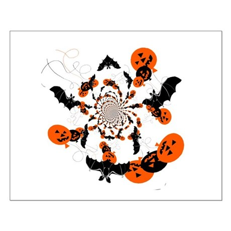 Pumpkin Bats Small Poster