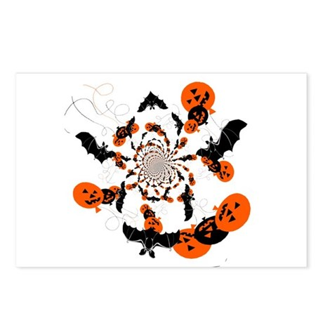 Pumpkin Bats Postcards (Package of 8)