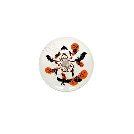 Pumpkin Bats Mini Button (100 pack)