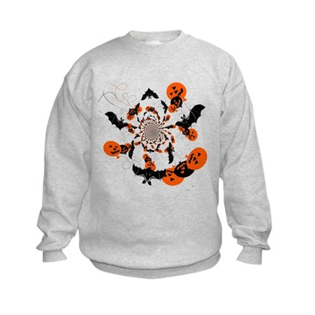 Pumpkin Bats Kids Sweatshirt