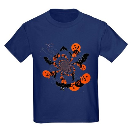 Pumpkin Bats Kids Dark T-Shirt