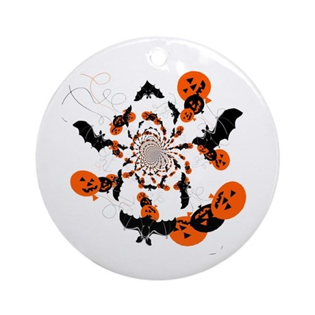 Pumpkin Bats Ornament (Round)