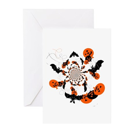 Pumpkin Bats Greeting Cards (Pk of 10)