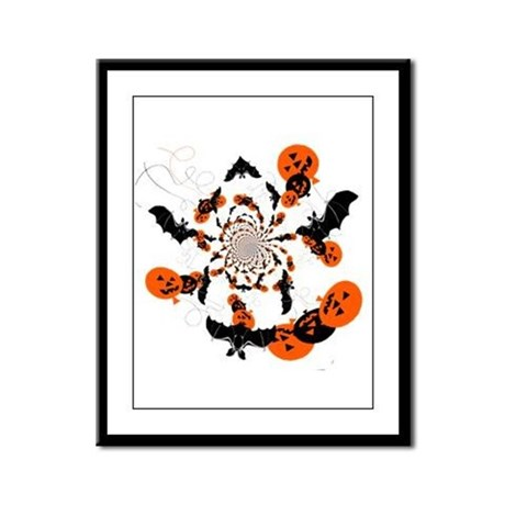 Pumpkin Bats Framed Panel Print