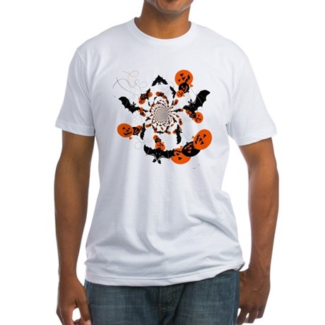 Pumpkin Bats Fitted T-Shirt