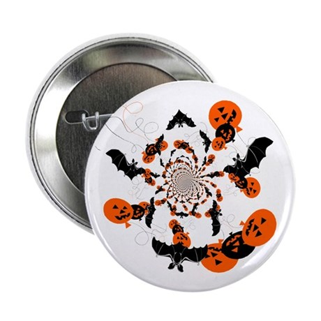 "Pumpkin Bats 2.25"" Button (100 pack)"
