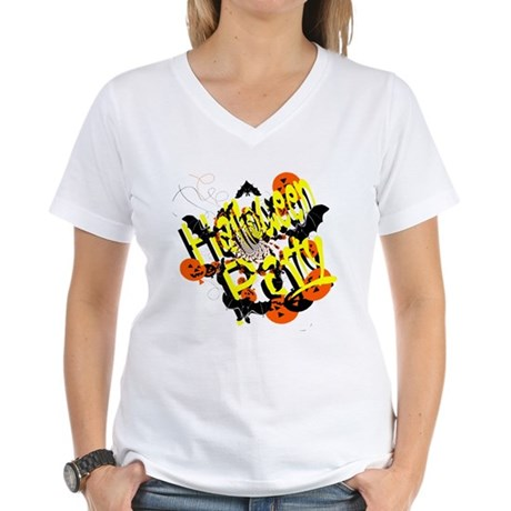 Halloween Party Women's V-Neck T-Shirt