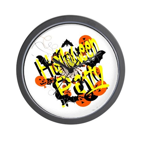 Halloween Party Wall Clock