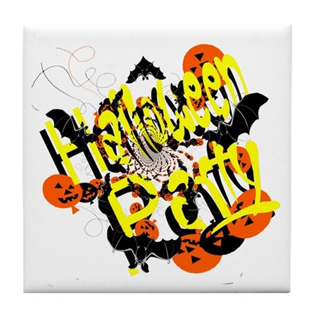 Halloween Party Tile Coaster