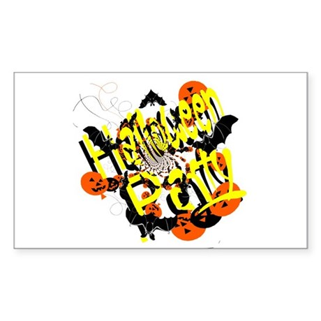 Halloween Party Rectangle Sticker