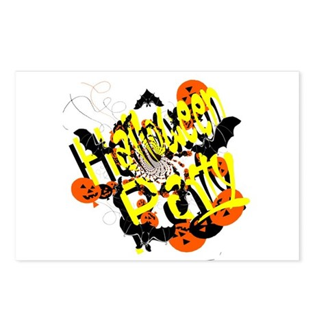 Halloween Party Postcards (Package of 8)