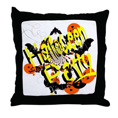 Halloween Party Throw Pillow