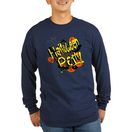 Halloween Party Long Sleeve Dark T-Shirt