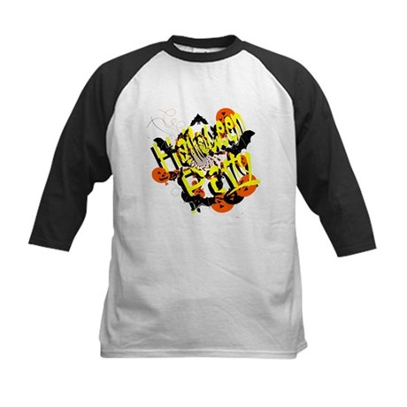 Halloween Party Kids Baseball Jersey
