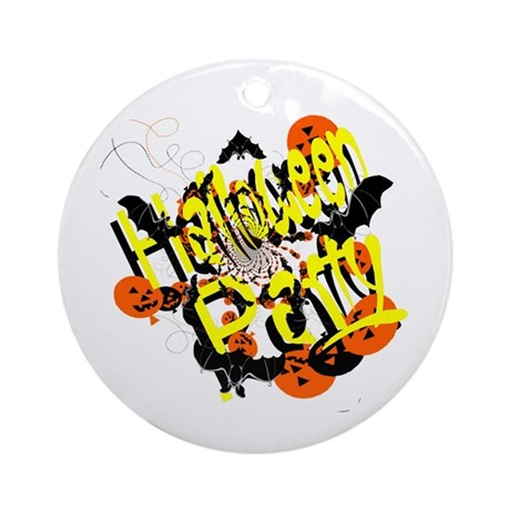 Halloween Party Ornament (Round)