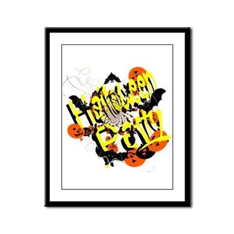 Halloween Party Framed Panel Print
