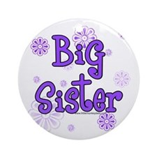 Purple big sister circles Ornament (Round)