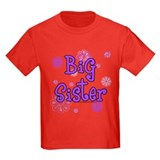 Purple big sister circles T