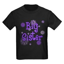 Purple big sister circles T