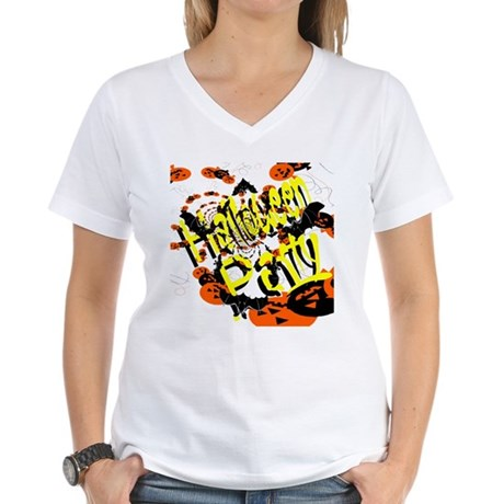Halloween Party II Women's V-Neck T-Shirt