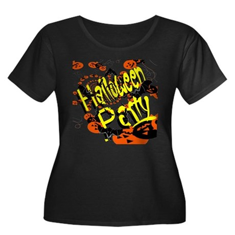 Halloween Party II Women's Plus Size Scoop Neck Da