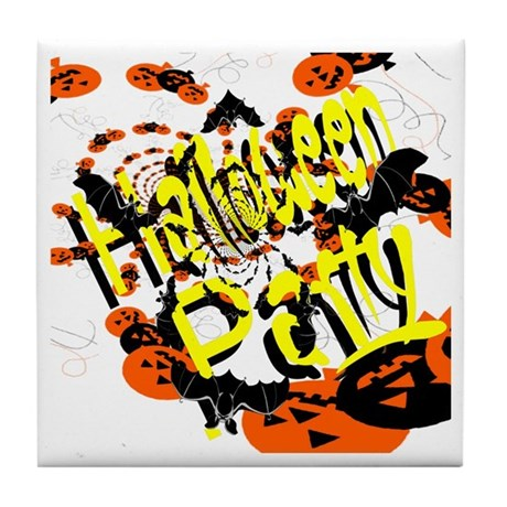 Halloween Party II Tile Coaster