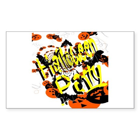 Halloween Party II Rectangle Sticker
