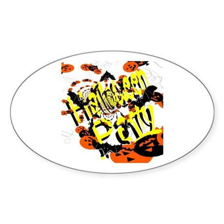 Halloween Party II Oval Sticker
